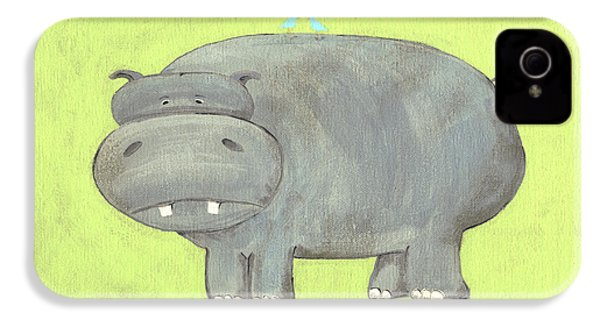 Herbert Hippo Nursery Art IPhone 4 / 4s Case by Katie Carlsruh