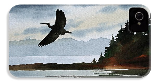 Heron Silhouette IPhone 4 / 4s Case by James Williamson