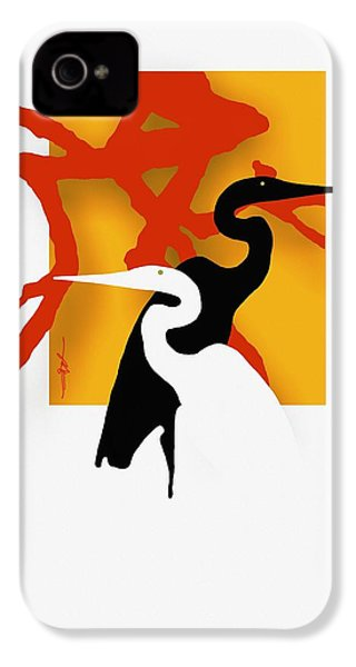 Herons  IPhone 4 / 4s Case by Bob Salo