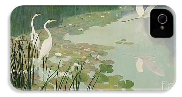 Herons In Summer IPhone 4 / 4s Case by Newell Convers Wyeth