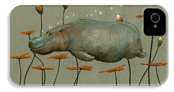 Hippo Underwater IPhone 4 / 4s Case by Juan  Bosco