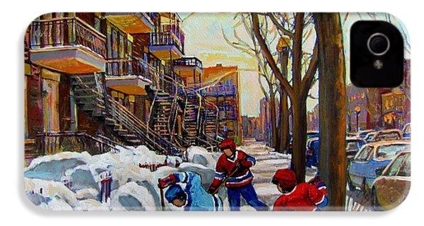 Hockey On De Bullion  IPhone 4 / 4s Case by Carole Spandau