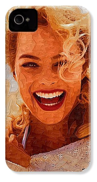 Hollywood Star Margot Robbie IPhone 4 / 4s Case by Best Actors