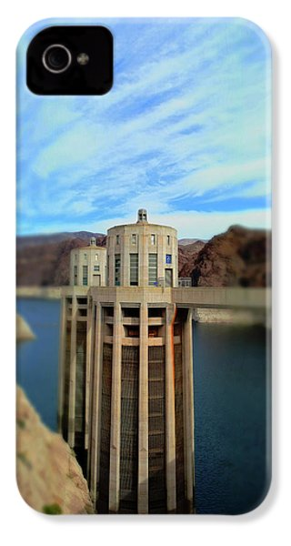Hoover Dam Intake Towers No. 1 IPhone 4 / 4s Case by Sandy Taylor