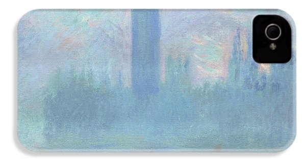 Houses Of Parliament  London IPhone 4 / 4s Case by Claude Monet