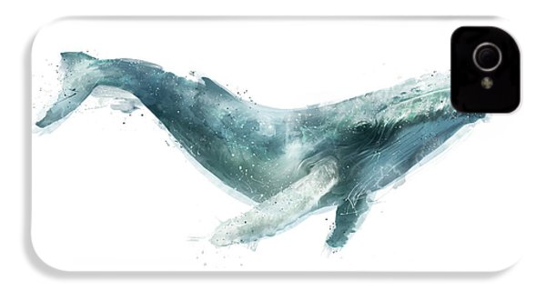 Humpback Whale From Whales Chart IPhone 4 / 4s Case by Amy Hamilton