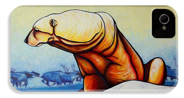 Hunger Burns - Polar Bear And Caribou IPhone 4 / 4s Case by Joe  Triano