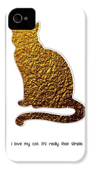I Love My Cat IPhone 4 / 4s Case by Shivonne Ross