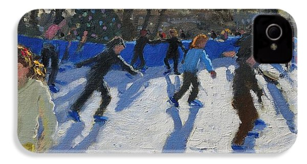 Ice Skaters At Christmas Fayre In Hyde Park  London IPhone 4 / 4s Case by Andrew Macara