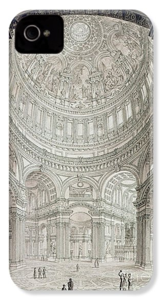 Interior Of Saint Pauls Cathedral IPhone 4 / 4s Case by John Coney