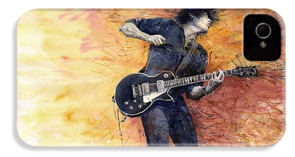 Jazz Rock Guitarist Stone Temple Pilots IPhone 4 / 4s Case by Yuriy  Shevchuk