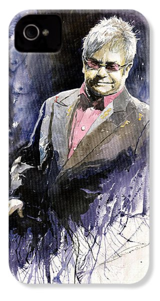 Jazz Sir Elton John IPhone 4 / 4s Case by Yuriy  Shevchuk