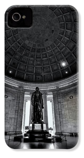 Jefferson Statue In The Memorial IPhone 4 / 4s Case by Andrew Soundarajan
