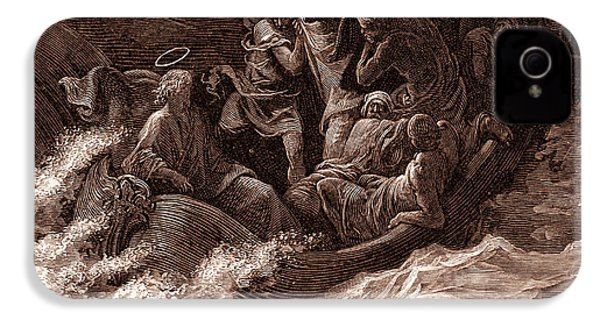 Jesus Stilling The Tempest IPhone 4 / 4s Case by Gustave Dore