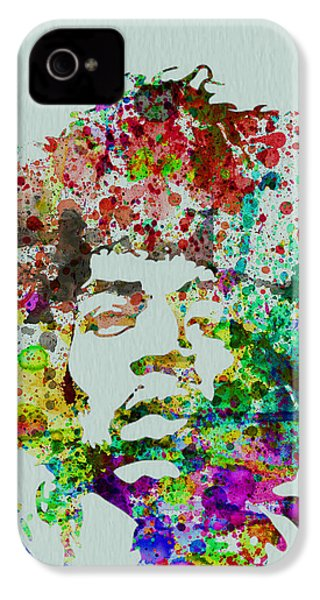 Jimmy Hendrix Watercolor IPhone 4 / 4s Case by Naxart Studio