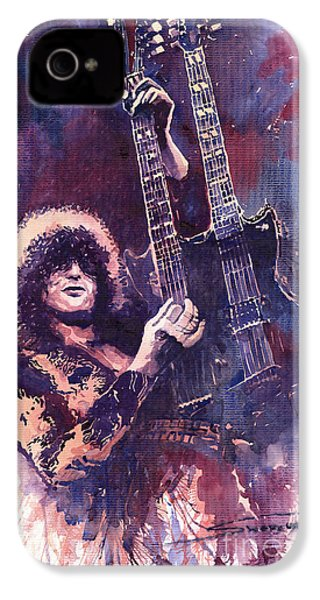 Jimmy Page  IPhone 4 / 4s Case by Yuriy  Shevchuk