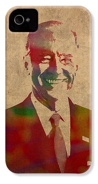 Joe Biden Watercolor Portrait IPhone 4 / 4s Case by Design Turnpike