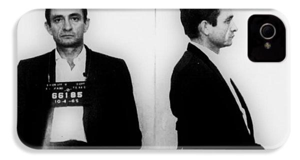 Johnny Cash Mug Shot Horizontal IPhone 4 / 4s Case by Tony Rubino