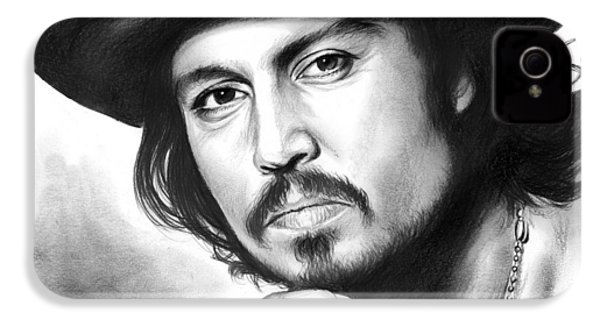 Johnny Depp IPhone 4 / 4s Case by Greg Joens