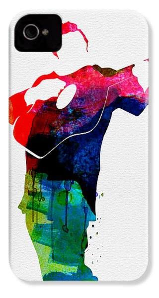 Johnny Watercolor IPhone 4 / 4s Case by Naxart Studio