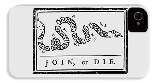 Join Or Die IPhone 4 / 4s Case by War Is Hell Store