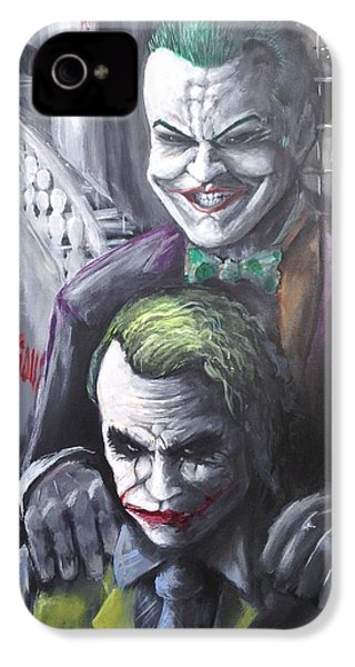 Jokery In Wayne Manor IPhone 4 / 4s Case by Tyler Haddox