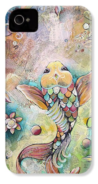 Joyful Koi II IPhone 4 / 4s Case by Shadia Derbyshire