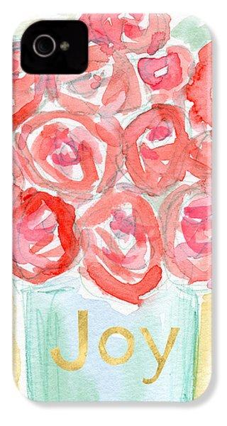 Joyful Roses- Art By Linda Woods IPhone 4 / 4s Case by Linda Woods