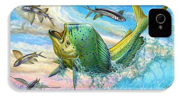 Jumping Mahi Mahi And Flyingfish IPhone 4 / 4s Case by Terry Fox