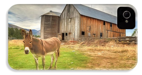 Just Another Day On The Farm IPhone 4 / 4s Case by Donna Kennedy