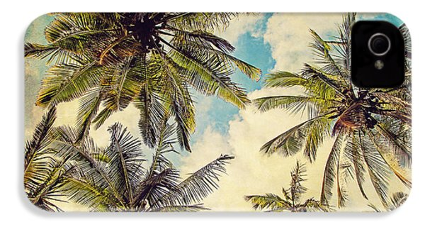 Kauai Island Palms - Blue Hawaii Photography IPhone 4 / 4s Case by Melanie Alexandra Price