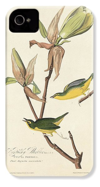 Kentucky Warbler IPhone 4 / 4s Case by John James Audubon