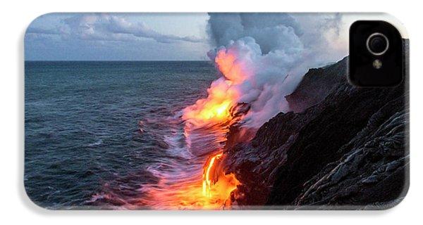 Kilauea Volcano Lava Flow Sea Entry 3- The Big Island Hawaii IPhone 4 / 4s Case by Brian Harig