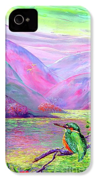 Kingfisher, Shimmering Streams IPhone 4 / 4s Case by Jane Small