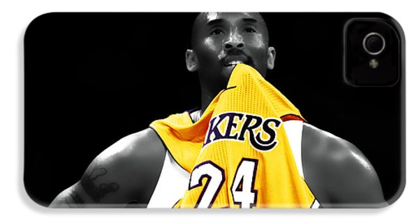 Kobe Bryant 04c IPhone 4 / 4s Case by Brian Reaves