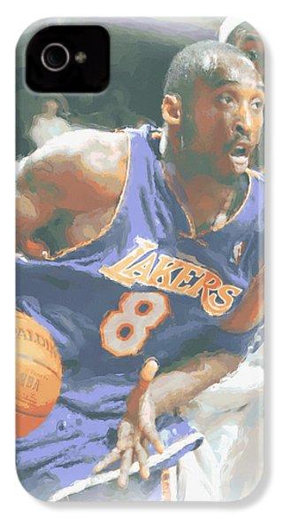 Kobe Bryant Lebron James IPhone 4 / 4s Case by Joe Hamilton