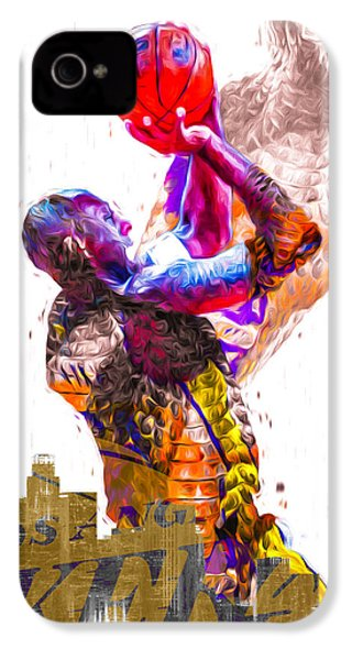 Kobe Bryant Los Angeles Lakers Digital Painting Snake 1 IPhone 4 / 4s Case by David Haskett