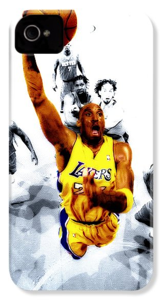Kobe Bryant Took Flight IPhone 4 / 4s Case by Brian Reaves