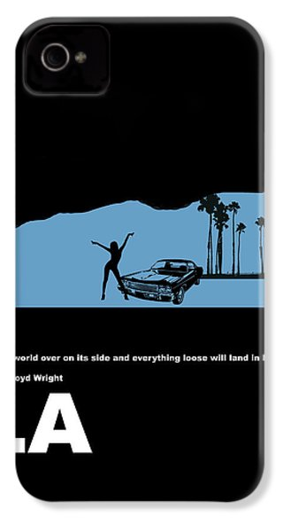 La Night Poster IPhone 4 / 4s Case by Naxart Studio
