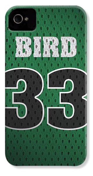 Larry Bird Boston Celtics Retro Vintage Jersey Closeup Graphic Design IPhone 4 / 4s Case by Design Turnpike