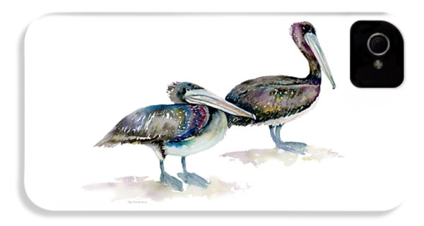 Laurel And Hardy, Brown Pelicans IPhone 4 / 4s Case by Amy Kirkpatrick