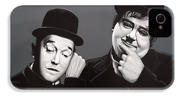 Laurel And Hardy IPhone 4 / 4s Case by Paul Meijering