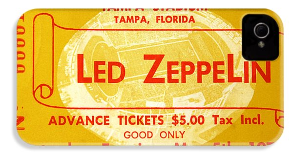 Led Zeppelin Ticket IPhone 4 / 4s Case by David Lee Thompson