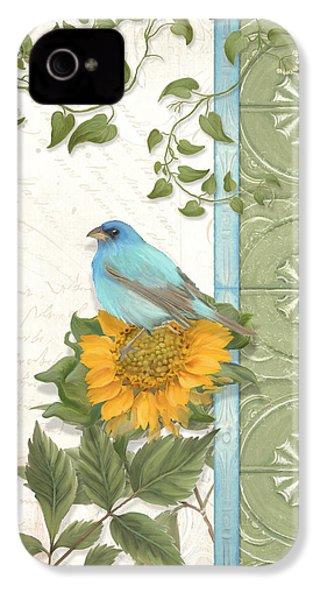 Les Magnifiques Fleurs Iv - Secret Garden IPhone 4 / 4s Case by Audrey Jeanne Roberts