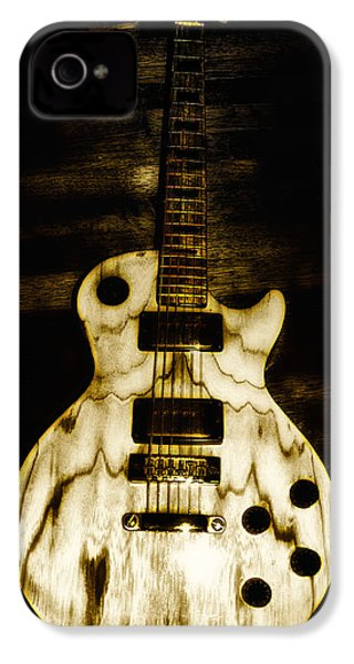 Les Paul Guitar IPhone 4 / 4s Case by Bill Cannon
