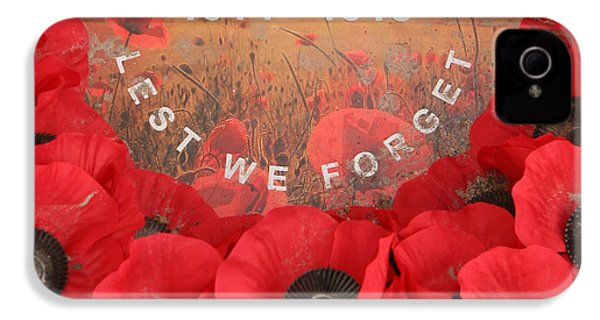 IPhone 4 / 4s Case featuring the photograph Lest We Forget - 1914-1918 by Travel Pics
