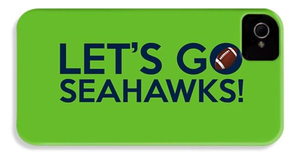Let's Go Seahawks IPhone 4 / 4s Case by Florian Rodarte