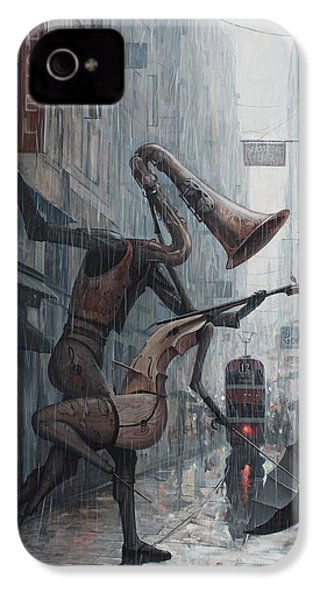 Life Is  Dance In The Rain IPhone 4 / 4s Case by Adrian Borda