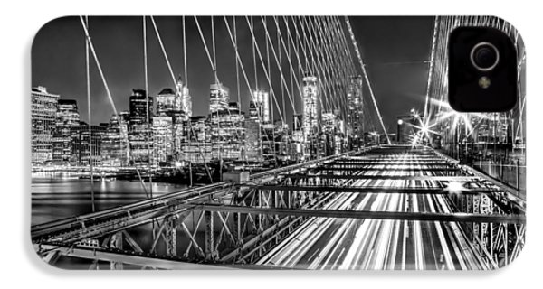 Light Trails Of Manhattan IPhone 4 / 4s Case by Az Jackson