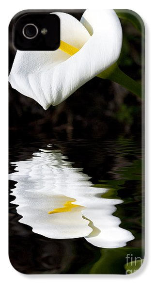 Lily Reflection IPhone 4 / 4s Case by Avalon Fine Art Photography